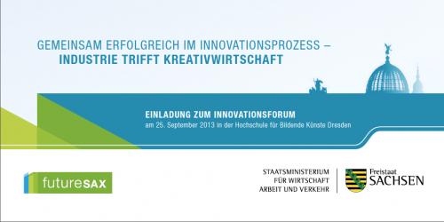 Einladung futureSAX 3.Innovationsforum 2013
