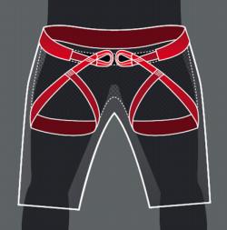 webbing-realization shorts-klettergurt